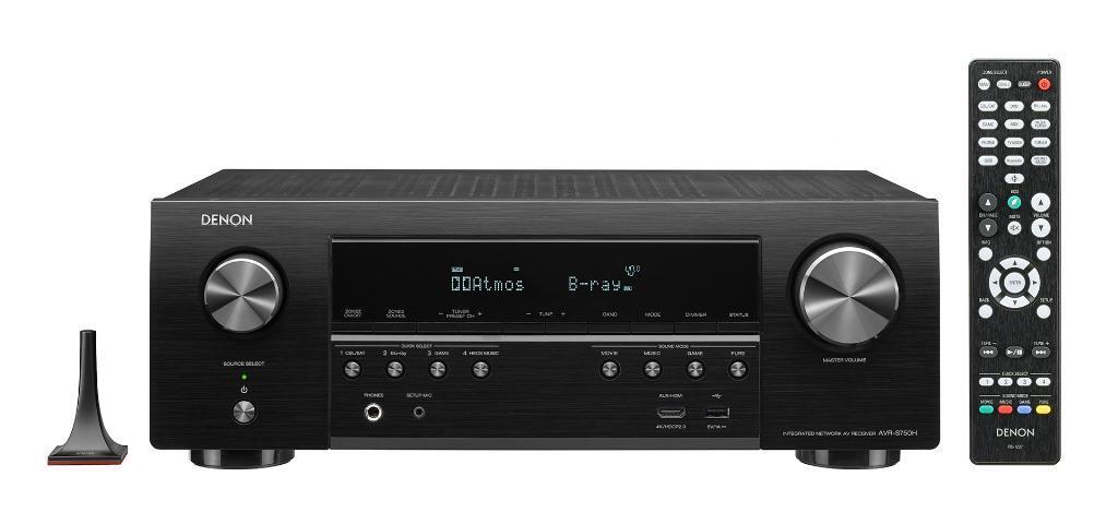 Receptor Denon AVR-S750H  - Full 4K Ultra HD, 7.2ch 140W, Dolby Atmos, DTS:X, WiFi+BT