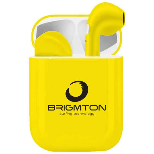 AURICULARES BRIGMTON BML-18Y BLUETOOTH AMARILLO