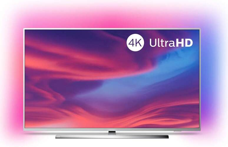 "TV 4K Philips 43"" 43PUS7354/12 - UHD, Smart TV Android, P5, HDR10+, Ambilight, Dolby Vision/Atmos"