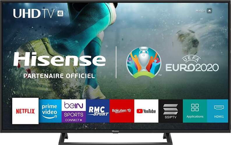 "TV 4K Hisense 43"" 43B7300 - UHD, Smart TV, HDR10, HLG, Motion Picture Enhancer, DTS, USB Media"