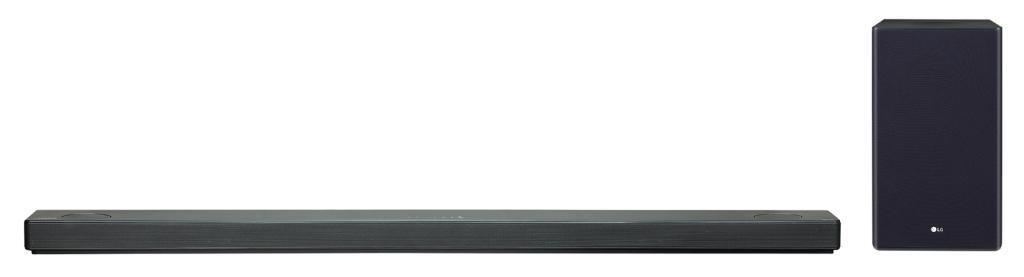 Barra de sonido LG SL10YG - 570W, 5.1.2., Dolby Atmos, Meridian, Hi-Res 24bits/192kHz, Wifi