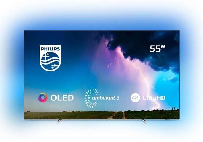 TV OLED Philips 55OLED754/12 - 4K UHD, P5, Smart TV Saphi, 4500HZ PPI, Ambilight, Dolby Vision/Atmos