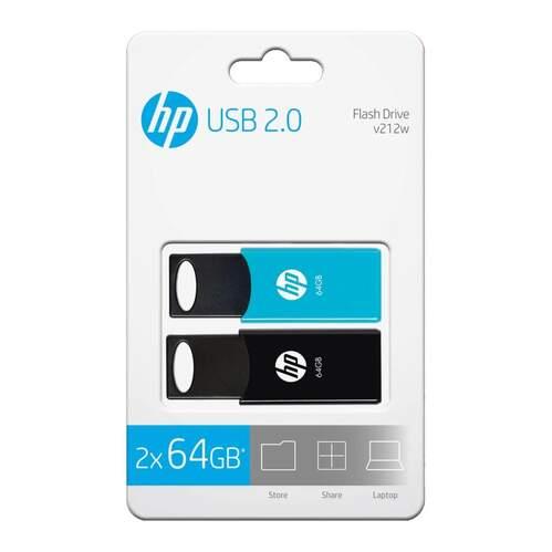 Pack 2 Memorias USB HP V212W 64GB