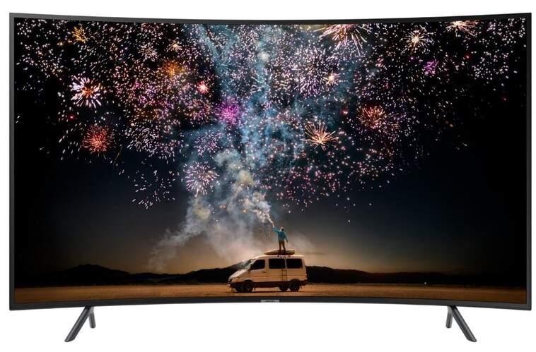 "Televisor Curvo Samsung 65"" UE65RU7305 - UHD 4K, 1500 PQI, HDR10+, Smart TV, Dolby Digital Plus"