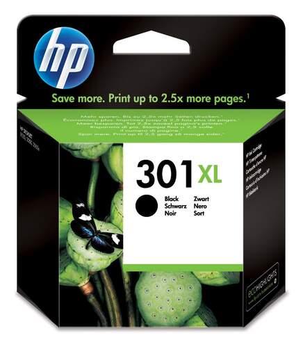 Tinta negra HP 301XL CH563E