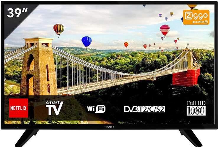 "Televisor Hitachi 39"" 39HE4005 - Full HD, Smart TV, HbbTV 1.5, Opera, WiFi, Modo Hotel, PVR"