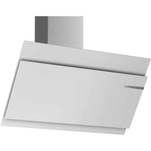Campana decorativa Bosch DWK97JM20 - A+, 90cm, 722m3/h, 58dB, EcoSilence, 4 Potencias, CristalBlanco