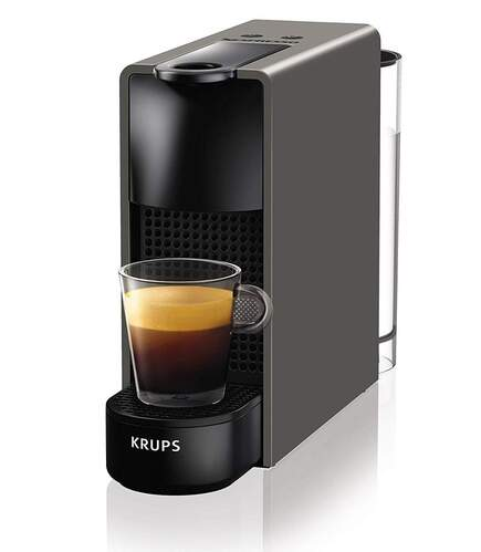 Cafetera Nespresso Krups Essenza Mini XN110BPR5 Gris