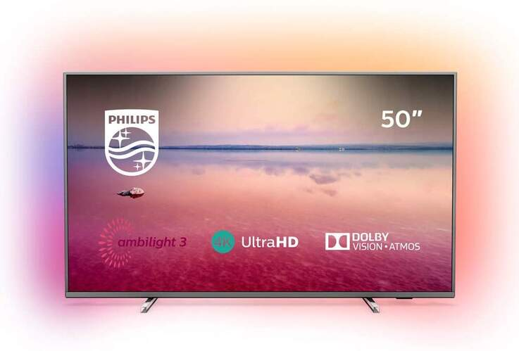 """TV Philips 50"""" 50PUS6754 - UHD 4K, Smart TV, Dolby Vision/Atmos, HDR10+, Pixel Precise, Ambilight"""