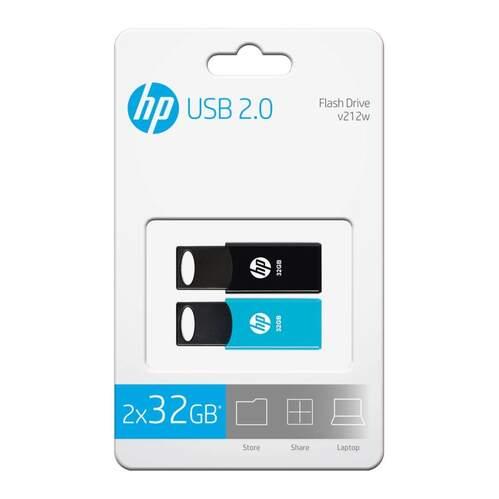 Pack 2 Memorias USB HP V212W 32GB