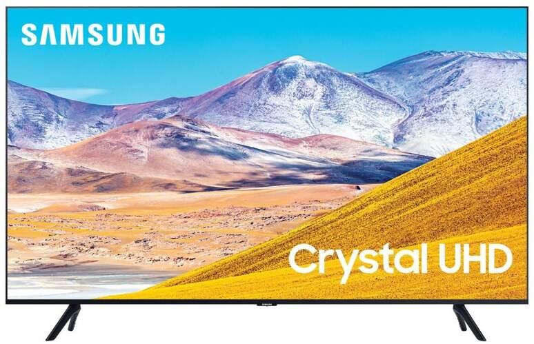 "TV Samsung 82"" 82TU8005 - Crystal UHD 4K, Smart TV Tizen, HDR10+, 2100PQI, UHD Dimming"