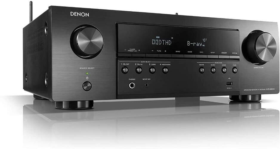 Receptor AV Denon AVR-S650H - 5.2ch 135W, 4K Ultra HD, Dolby True HD, DTS-HD, Dolby Vision, BT